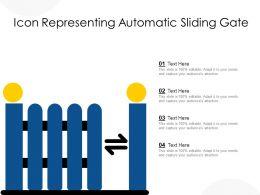 Icon Representing Automatic Sliding Gate