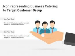 Icon Representing Business Catering To Target Customer Group
