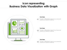 Icon Representing Business Data Visualization With Graph