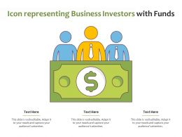 Icon Representing Business Investors With Funds