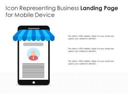 Icon Representing Business Landing Page For Mobile Device