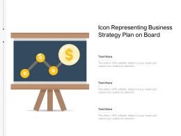 Icon Representing Business Strategy Plan On Board