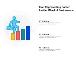 Icon Representing Career Ladder Chart Of Businessman