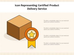 Icon Representing Certified Product Delivery Service
