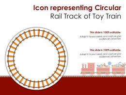 Icon Representing Circular Rail Track Of Toy Train