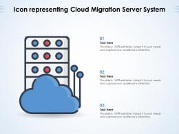 Icon Representing Cloud Migration Server System