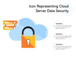Icon Representing Cloud Server Data Security