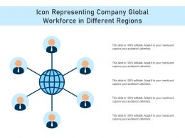 Icon Representing Company Global Workforce In Different Regions