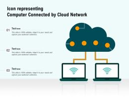 Icon Representing Computer Connected By Cloud Network