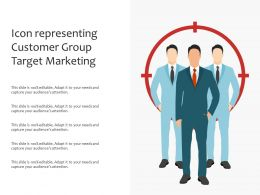 Icon Representing Customer Group Target Marketing