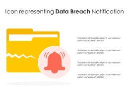 Icon Representing Data Breach Notification