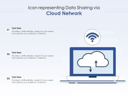 Icon Representing Data Sharing Via Cloud Network