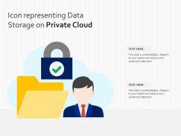 Icon Representing Data Storage On Private Cloud