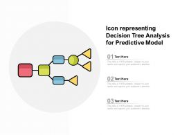 Icon Representing Decision Tree Analysis For Predictive Model