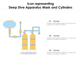 Icon Representing Deep Dive Apparatus Mask And Cylinders