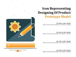 Icon Representing Designing Of Product Prototype Model