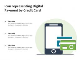 Icon Representing Digital Payment By Credit Card