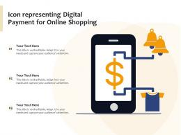 Icon Representing Digital Payment For Online Shopping