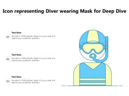 Icon Representing Diver Wearing Mask For Deep Dive