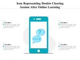 Icon Representing Doubts Clearing Session After Online Learning