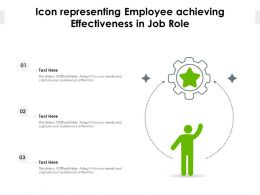 Icon Representing Employee Achieving Effectiveness In Job Role