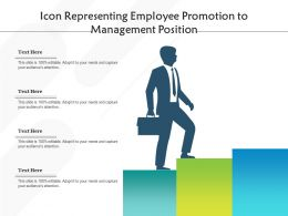 Icon Representing Employee Promotion To Management Position