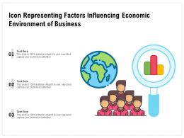 Icon Representing Factors Influencing Economic Environment Of Business