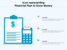 Icon Representing Financial Plan To Grow Money
