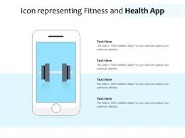 Icon Representing Fitness And Health App