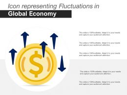 Icon Representing Fluctuations In Global Economy
