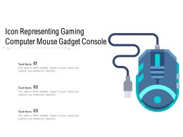 Icon Representing Gaming Computer Mouse Gadget Console