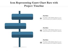 Icon Representing Gantt Chart Bars With Project Timeline