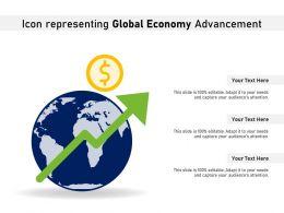 Icon Representing Global Economy Advancement