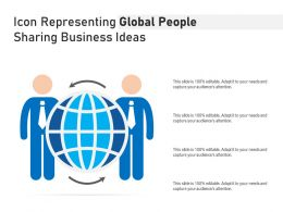 Icon Representing Global People Sharing Business Ideas