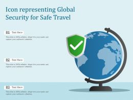 Icon Representing Global Security For Safe Travel