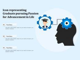 Icon Representing Graduate Pursuing Passion For Advancement In Life