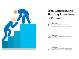 Icon Representing Helping Behaviour Of Person
