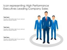 Icon Representing High Performance Executives Leading Company Sales