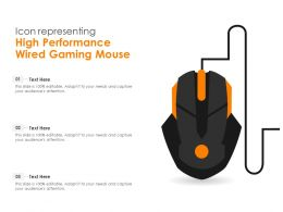 Icon Representing High Performance Wired Gaming Mouse