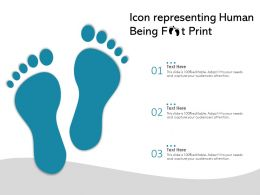 Icon Representing Human Being Foot Print