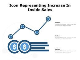 Icon Representing Increase In Inside Sales