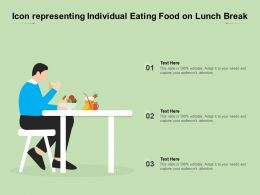 Icon Representing Individual Eating Food On Lunch Break