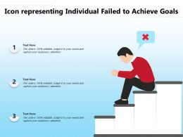 Icon Representing Individual Failed To Achieve Goals