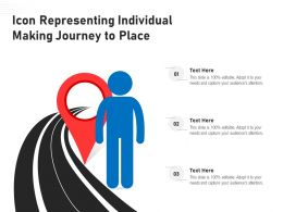 Icon Representing Individual Making Journey To Place