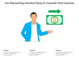 Icon Representing Individual Paying For Corporate Travel Expenses