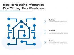 Icon Representing Information Flow Through Data Warehouse