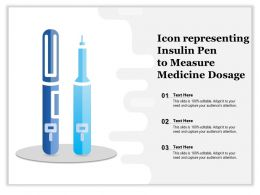 Icon Representing Insulin Pen To Measure Medicine Dosage