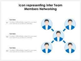Icon Representing Inter Team Members Networking