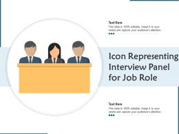 Icon Representing Interview Panel For Job Role