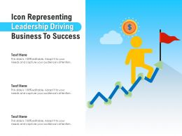 Icon Representing Leadership Driving Business To Success